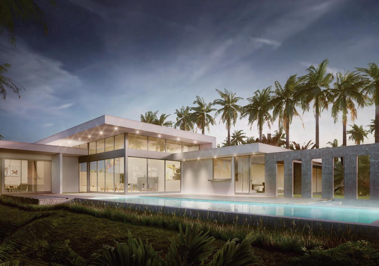 Botaniko Weston Miami Con paredes de vidrio, pisos de concreto pulido en espacios públicos y pisos de madera en los dormitorios, la arquitectura de Mateu es moderna y funcional, pero expresiva y cálida. Al incorporar de forma visual los exteriores, las residencias se benefician de una impactante iluminación.
